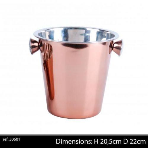 Rose Gold Champagne Bucket  H20,5 D22 Cm