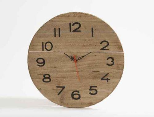 Elegant 35cm Wooden Driftwood Wall Clock For Home Kitchen Living Dining Bedroom