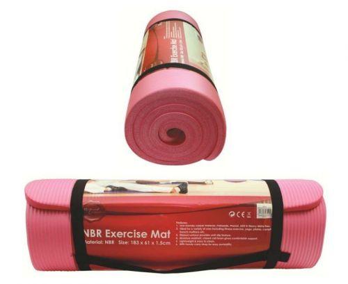 183 X 61 X 1.5cm NBR Exercise Mat Pink Yoga Gym Fitness Mattress
