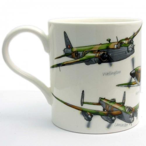 Classic Planes Fine China Coffee Tea Mug