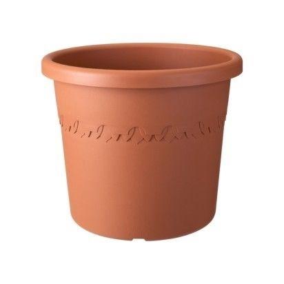 Flower Pot Algarve Cilindro Round Terracotta Including Wheels 48CM